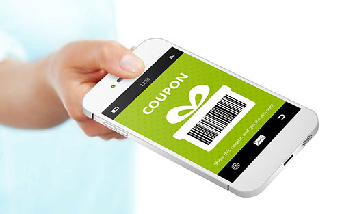 Coupon on phone