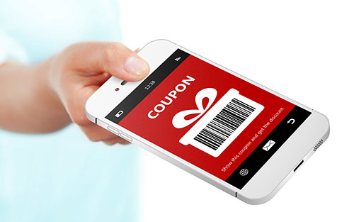 Cell phone coupon